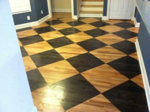Hardwood Floor Diamond Pattern Staining