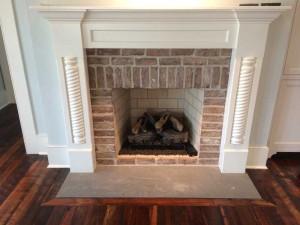 Hardwood Flooring around fireplace