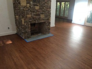 Hardwood Flooring around fireplace